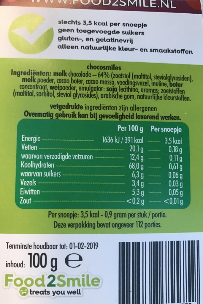 Chocosmiles etiket