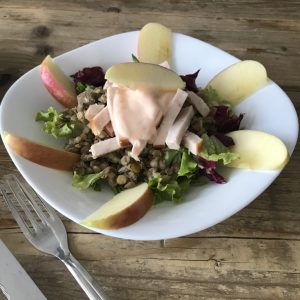 salade met groene linzen
