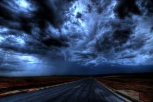 moe donker weer regen