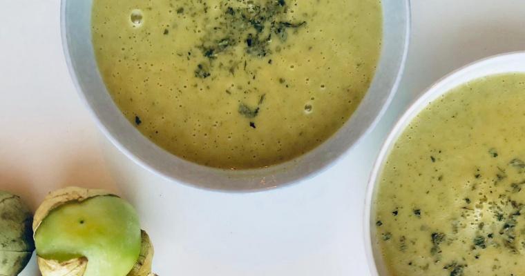 Recept Courgettesoep met Tomatillos