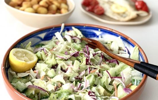 Recept Frisse Komkommersalade