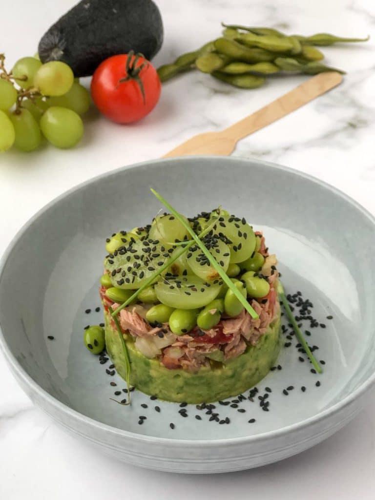 avocado mousse met zalm