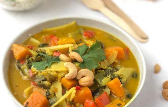 Vegetarische Gele Curry
