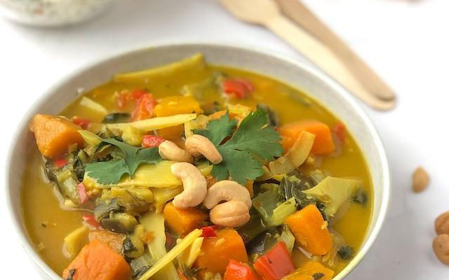 Vegetarische Gele Curry