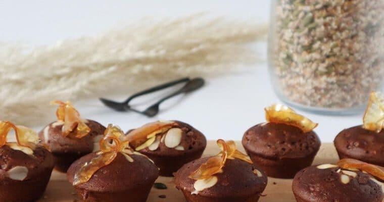 Chocolade Cakes met Zaden