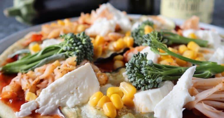 Vegetarische Pizza met Aubergine